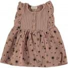 Oudroze kleedje met bloemetjes - Shrimp bambula dress pink