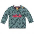 Legergroene t-shirt met wolven - Wild - maat 56 (Geboortelijst Seppe d.C.)