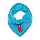 Turquoise slabbetje met vogel  - bandana cray artic