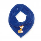 Donkerblauw slabbetje met vosje  - bandana cray levis