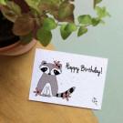 Happy birthday! - bloeikaarten (wildbloemen)