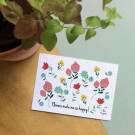 Flowers make me so happy! - bloeikaarten (wildbloemen)