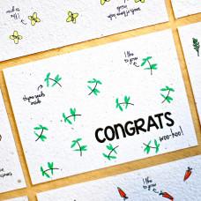 Congrats- bloeikaarten (thijm)