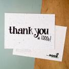 Thank you 1000 x! - bloeikaarten (wilde bloemen)