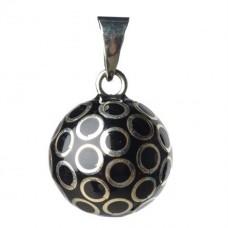 Zwart bola bolletje met gouden cirkels - Black with gold touch