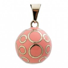 Oud roze bola met cirkels - Bola pink