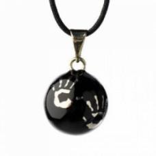 Zwartkleurige bola met handjes - Bola black with hands