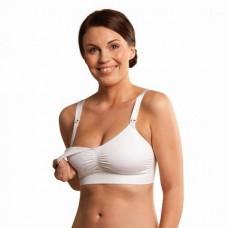 Witte naadloze voedingsbh met voorgevormde cup- Seamless padded nursing bra