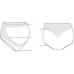 Naadloze witte ondersteunende slip - light support panty