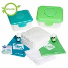Cheeky wipes  - All in one wasbare billendoekjes white cotton terry