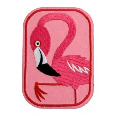 Strijkapplicatie : Fiona de flamingo