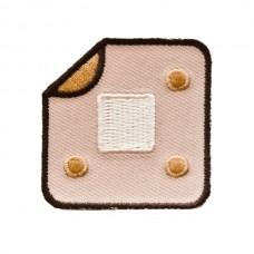 Strijkapplicatie : pleister met flap