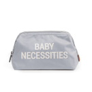 Grijze opberg/toilettas baby necessities