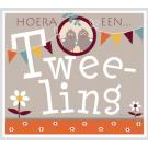 Wenskaart - Hoera een tweeling