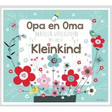 Wenskaart munt met bloemetjes - Hartelijk gefeliciteerd een kleinkind