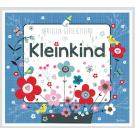 Wenskaart blauw met bloemetjes - Hartelijk gefeliciteerd een kleinkind