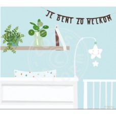 Wenskaart babykamer - je bent zo welkom