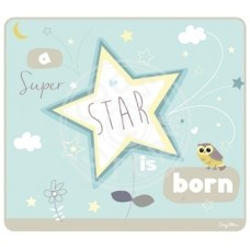 Wenskaart a super star is born blauw