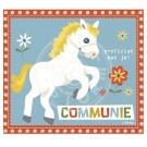 Wenskaart met paard - Proficiat met je communie