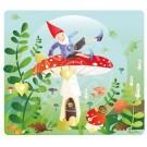 Wenskaart kabouter op paddenstoel