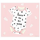 Wenskaart roze body  - born to be wild