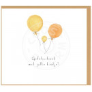 Wenskaart ballonnen - Gefeliciteerd met jullie kindje