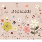 Wenskaart met bloemen - bedankt!