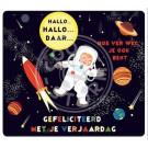Wenskaart ruimte - gefeliciteerd met je verjaardag