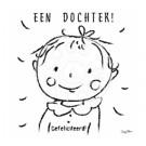 Wenskaart - meisje : een dochter! gefeliciteerd