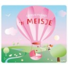 Wenskaart luchtballon - 'n meisje