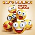 3D wenskaart - Verjaardag - Emoji
