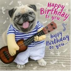 3D wenskaart - Happy birthday - hond