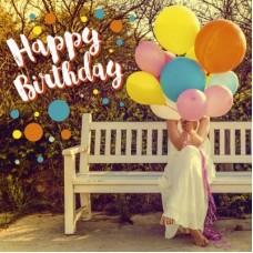 3D wenskaart - Verjaardag - Ballonnen