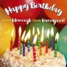 3D wenskaart - Verjaardag - Taart
