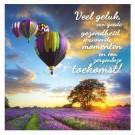 3D wenskaart - Verjaardag - Luchtballonnen