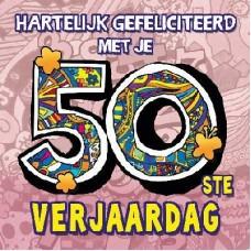 3D wenskaart - 50 jaar