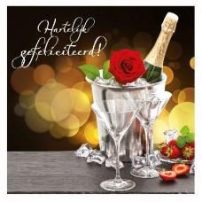 3D wenskaart - Trouw - champagne