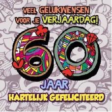 3D wenskaart - 60 jaar