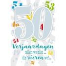 Muziek wenskaart - 50 jaar