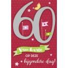 Muziek wenskaart - 60 jaar - dames
