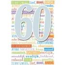 Muziek wenskaart - 60 jaar