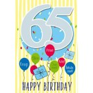 Muziek wenskaart - 65 jaar