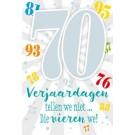 Muziek wenskaart - 70 jaar