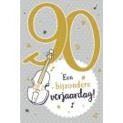 Muziek wenskaart - 90 jaar