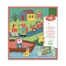 Stickerboek met herbruikbare stickers - Stad