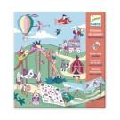 Stickerboek met herbruikbare stickers - Kermis