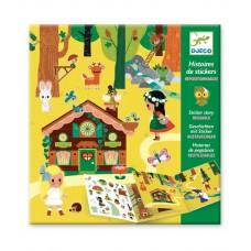 Stickerboek met herbruikbare stickers - Het magische bos