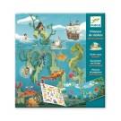 Stickerboek met herbruikbare stickers - Onderwaterwereld