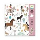 160 stickers - paarden