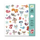 160 stickers - kleine dieren